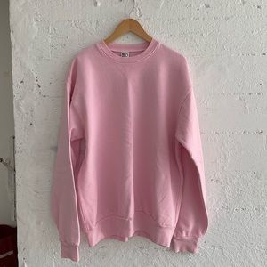 american apparel pink crew neck!❤️